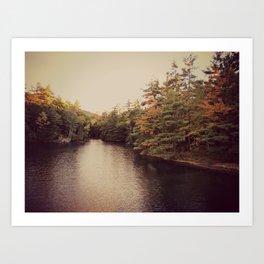 Early Autumn on Lake George Art Print