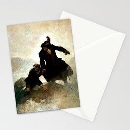 """Kidnapped"" Painting by NC Wyeth Stationery Cards"
