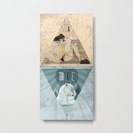 HI & BYE Metal Print