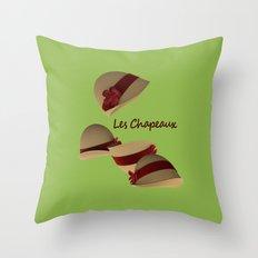 Les Chapeaux Throw Pillow