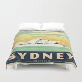 Vintage poster - Sydney Duvet Cover