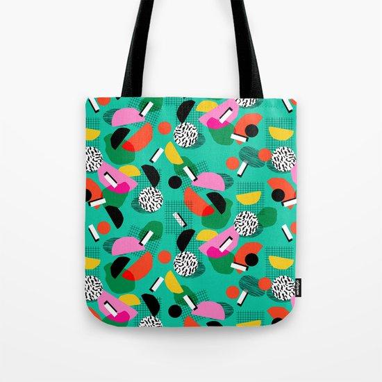 Flange - memphis inspired pop art retro throwback 1980s neon style art print decor hipster socal Tote Bag