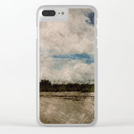 Windy Beach Day Clear iPhone Case