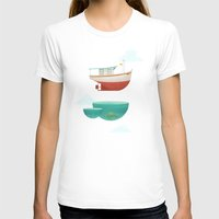 anaconda T-shirts featuring Floating Boat by ErDavid