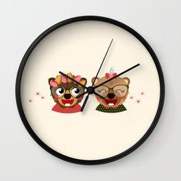 Jumelles oursonnes Wall Clock