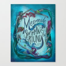 Mermaid Swimming Grounds Canvas Print
