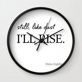 I'll rise #minimalism 2 Wall Clock