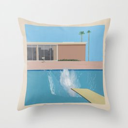 A Bigger Splash - David Hockney, 1967 Throw Pillow