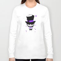 mad hatter Long Sleeve T-shirts featuring Mad Hatter Minimalism  by Ludwig Van Bacon