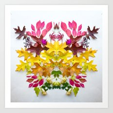 Botanical Crest 1 Art Print