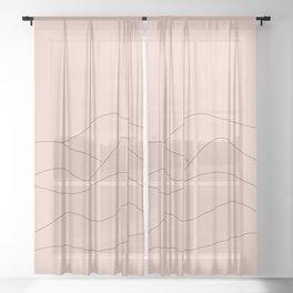 Pink Mountains Minimal Sheer Curtain