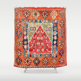 Bayburt Northeast Anatolian Niche Kilim Print Shower Curtain