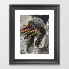 Portrait of a sicilian girl (2014) Framed Art Print