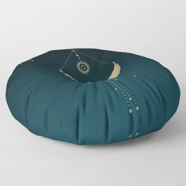 The Magic Of The Moon  Floor Pillow