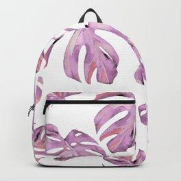 Monstera Pattern Pink #society6 #buyart Backpack