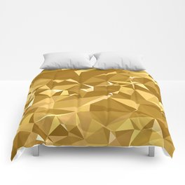 Gold Triangles Comforters