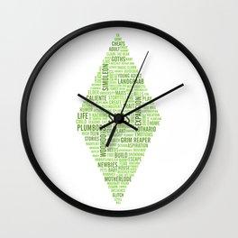Sims Plumbob Typography Wall Clock