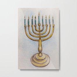 Hanukkiah MM180920a Metal Print