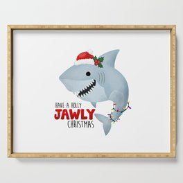 Have A Holly Jawly Christmas Shark Serving Tray