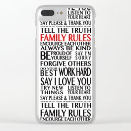Family Rules 2 Clear iPhone Case