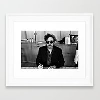 tim burton Framed Art Prints featuring Tim Burton by Sergio Bastidas