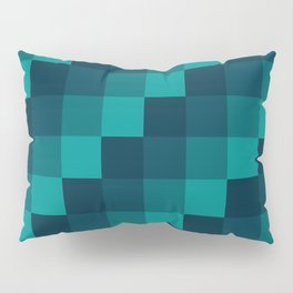 Ocean Waves - Pixel patten in dark blue Pillow Sham