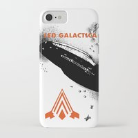 battlestar galactica iPhone & iPod Cases featuring LED GALACTICA by ClevaGurl