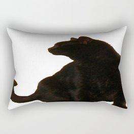 Halloween Black Cat Silhouette  Rectangular Pillow
