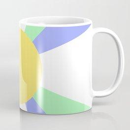 Retro Sun Rays - Jewel Tones Coffee Mug