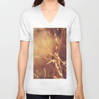 golden V-neck T-shirts featuring Golden by Nina's clicks