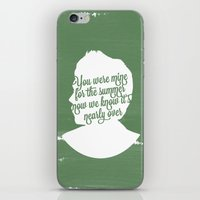 niall horan iPhone & iPod Skins featuring Niall Horan Silhouette  by Holly Ent