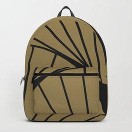 Diamond Series Round Sun Burst Charcoal on Gold Backpack