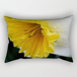 Drenched Daff Rectangular Pillow