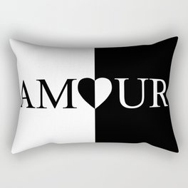 AMOUR LOVE Black And White Design Rectangular Pillow