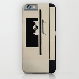 El Lissitzky - Kestnermappe Proun, Rob. Levnis and Chapman GmbH Hannover #7 (1923) iPhone Case