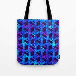 Cosmic blue watercolor bright print. Tote Bag
