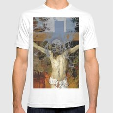 Crucifixion MEDIUM White Mens Fitted Tee
