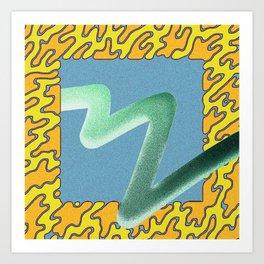 wave particle bounce Art Print