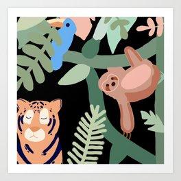 Jungle theme Art Print