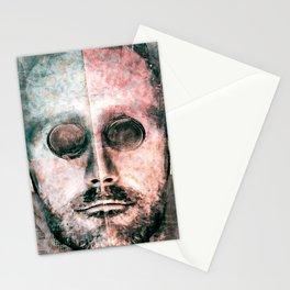 Cyborg Photo Manipulation Portrait Stationery Cards