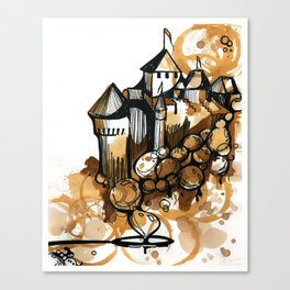 Castle float Canvas Print