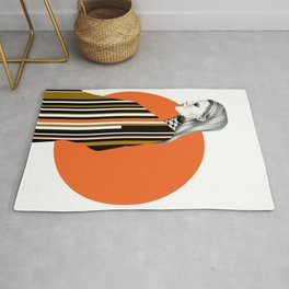 Defy the barcode Rug