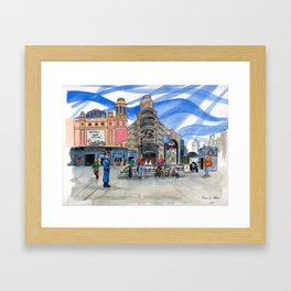 Plaza de Callao Framed Art Print