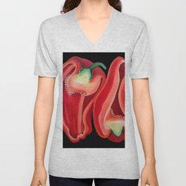 Red Capsicum Unisex V-Neck
