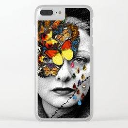 Butterfly Jewel. Clear iPhone Case
