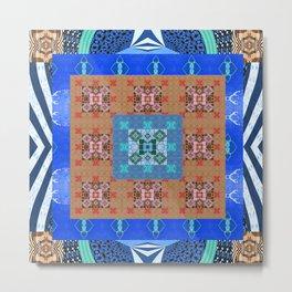 Psyche Boho Elegant Quilt Mandala Metal Print