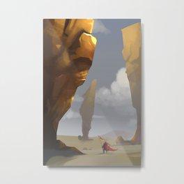 Yellow Pillars Metal Print