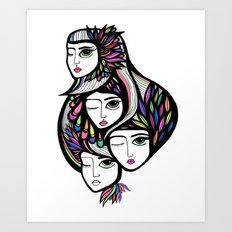 Neon Trio Art Print