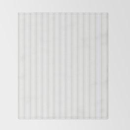 Creamy Tofu White Mattress Ticking Wide Striped Pattern - Fall Fashion 2018 Throw Blanket
