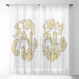 Outsider Art Sheer Curtain